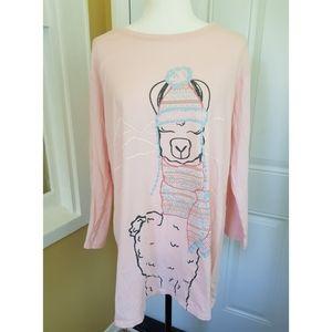 La Vie en Rose Llama Sleepshirt